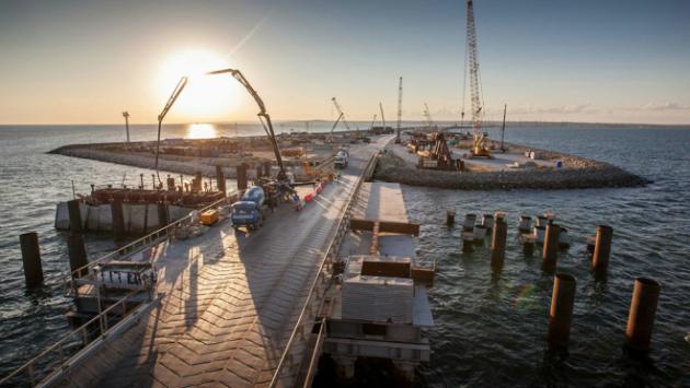 Cтроящийся мост вКрым сфотографировали сМКС