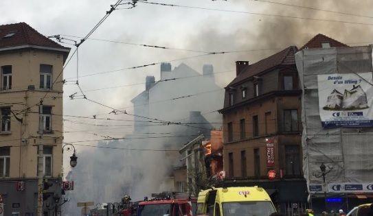 ВБрюсселе в итоге  мощного взрыва разрушен четырехэтажный дом