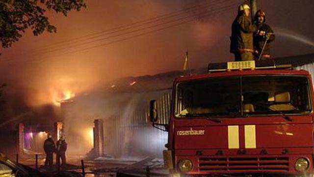 Сосед спалил жену деревне